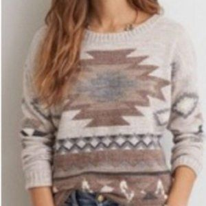 AMERICAN EAGLE boho aztec oversized sweater